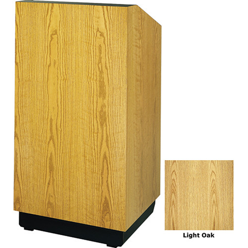 "Da-Lite Lexington 32"" Floor Lectern with Sound System and Height Adjustment (Light Oak Laminate)"