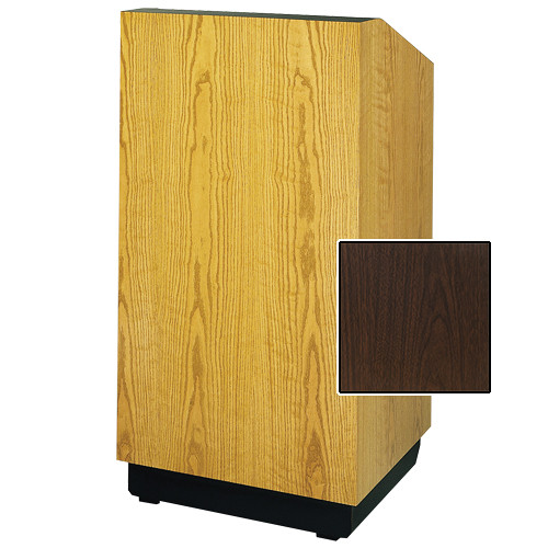 "Da-Lite Lexington 25"" Floor Lectern with Electric Height Adjustment (Gunstock Walnut Laminate)"