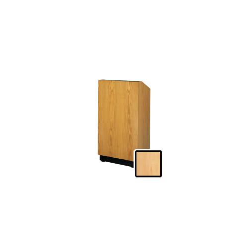 "Da-Lite Lexington 25"" Floor Lectern with Electric Height Adjustment and Gooseneck Microphone (Honey Maple Veneer)"