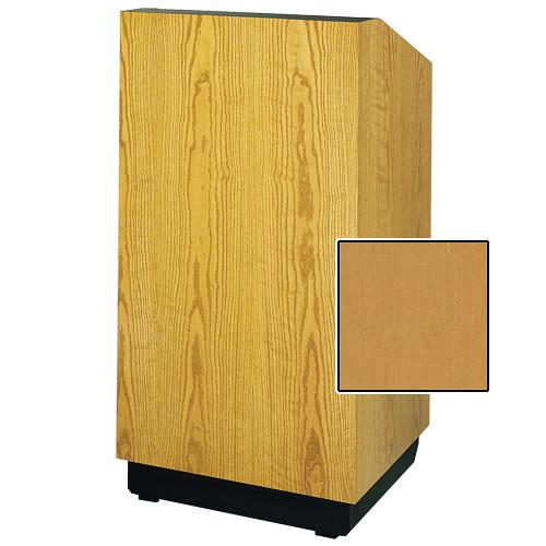 """Da-Lite Lexington 25"""" Floor Lectern with Electric Height Adjustment (Honey Maple Veneer)"""