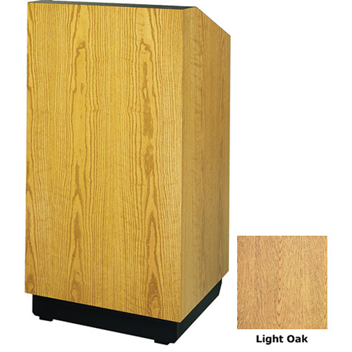 "Da-Lite Lexington 25"" Floor Lectern with Electric Height Adjustment (Light Oak Veneer)"