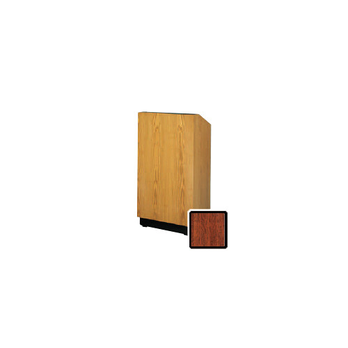 "Da-Lite Lexington 25"" Floor Lectern with Electric Height Adjustment (Mahogany Veneer)"