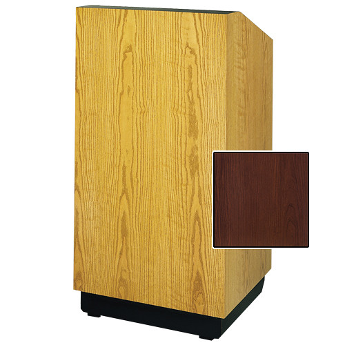 "Da-Lite Lexington 25"" Floor Lectern with Sound System (Standard Cherry Laminate)"