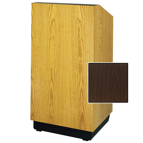 "Da-Lite Lexington 25"" Floor Lectern with Sound System (Standard Gunstock Walnut Laminate)"
