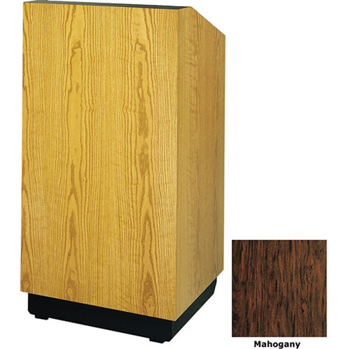 "Da-Lite Lexington 25"" Tabletop Lectern with Sound System (Mahogany Laminate)"
