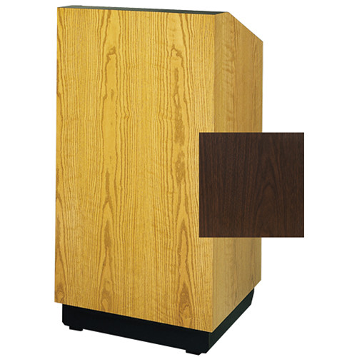"Da-Lite Lexington 25"" Stacking Lectern with Gooseneck Microphone (Gunstock Walnut Laminate)"