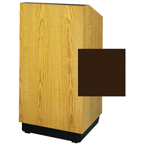 "Da-Lite Lexington 25"" Stacking Lectern with Gooseneck Microphone (Mahogany Laminate)"