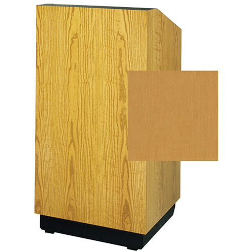 "Da-Lite Lexington 25"" Stacking Lectern with Gooseneck Microphone (Honey Maple Veneer)"