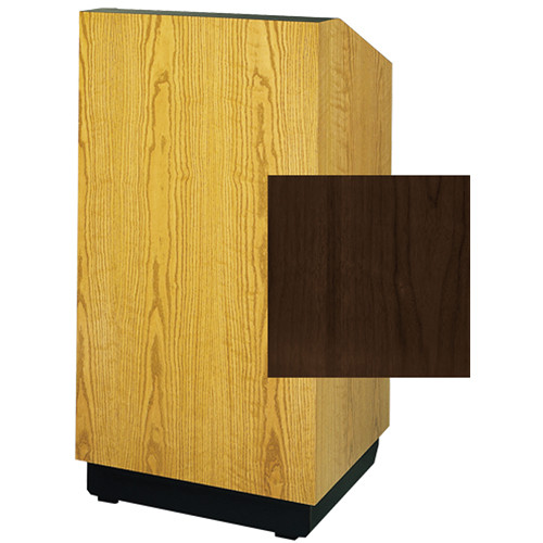 "Da-Lite Lexington 25"" Stacking Lectern with Gooseneck Microphone (Heritage Walnut Veneer)"