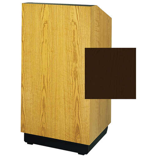 "Da-Lite Lexington 25"" Stacking Lectern with Gooseneck Microphone (Mahogany Veneer)"
