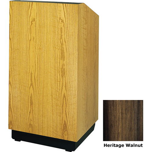 "Da-Lite Lexington 25"" Tabletop Lectern with Gooseneck Microphone (Heritage Walnut Veneer)"