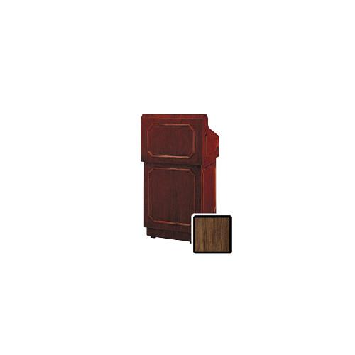 "Da-Lite Hamilton 32"" Floor Lectern with Height Adjustment (Standard Heritage Walnut Veneer)"