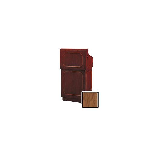 "Da-Lite Hamilton 32"" Floor Lectern with Height Adjustment (Standard Natural Walnut Veneer)"