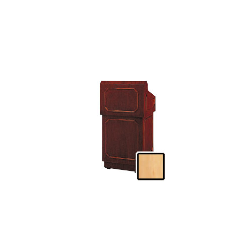 "Da-Lite Hamilton 32"" Floor Lectern with Gooseneck Microphone (Honey Maple Veneer)"