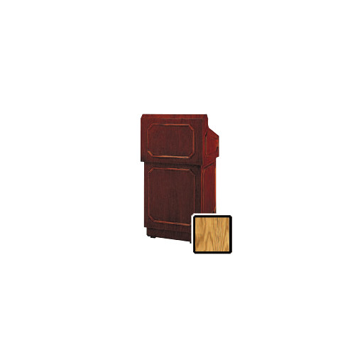 "Da-Lite Hamilton 25"" Tabletop Lectern with Sound System (Standard Medium Oak Veneer)"