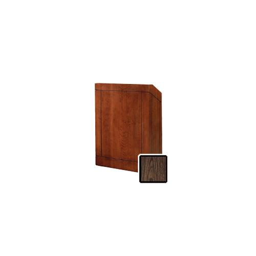"Da-Lite Providence 32"" Floor Lectern with Electric Height Adjustment (Gunstock Walnut Laminate)"