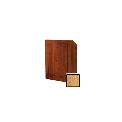 "Da-Lite Providence 32"" Floor Lectern with Electric Height Adjustment (Light Oak Laminate)"