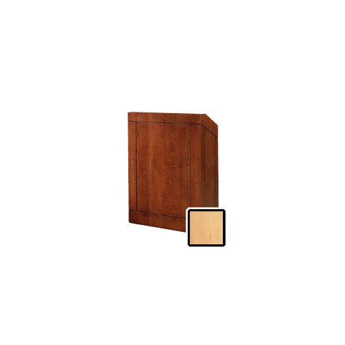 "Da-Lite Providence 32"" Floor Lectern with Electric Height Adjustment and Gooseneck Microphone (Honey Maple Veneer)"