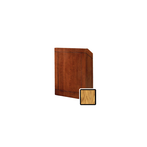 "Da-Lite Providence 25"" Floor Lectern with Electric Height Adjustment (Medium Oak Veneer)"