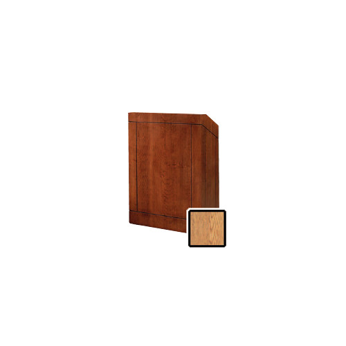 "Da-Lite Providence 25"" Floor Lectern with Gooseneck Microphone (Light Oak Veneer)"