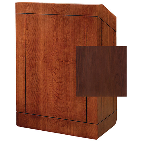 "Da-Lite Providence 42"" Special Needs Floor Lectern with Electric Height Adjustment (Standard Cherry Laminate)"