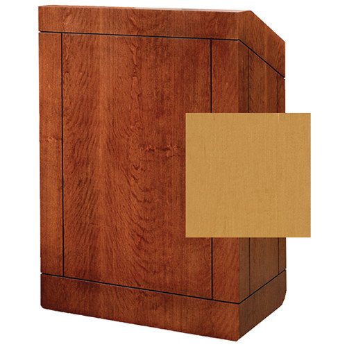 "Da-Lite Providence 42"" Special Needs Floor Lectern with Sound System & Height Adjustment (Standard Honey Maple Veneer)"