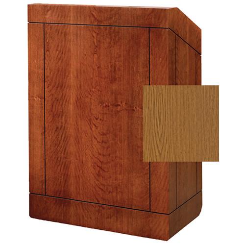 "Da-Lite Providence 42"" Special Needs Floor Lectern with Sound System & Height Adjustment (Standard Medium Oak Veneer)"