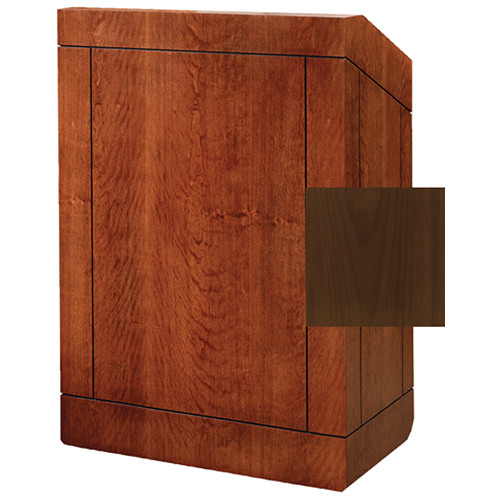 "Da-Lite Providence 42"" Special Needs Floor Lectern with Sound System & Height Adjustment (Standard Natural Walnut Veneer)"