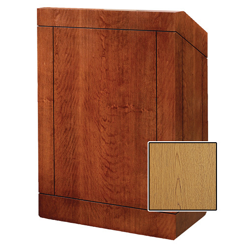 "Da-Lite Providence 48"" Multimedia Floor Lectern (Standard Light Oak Laminate)"
