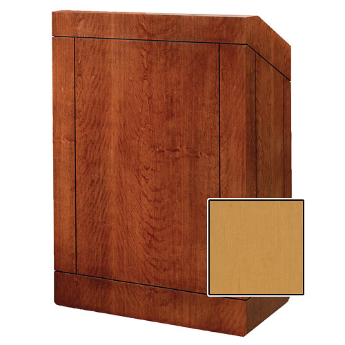 "Da-Lite Providence 48"" Multi-Media Floor Lectern (Honey Maple Veneer)"