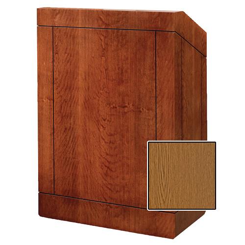 "Da-Lite Providence 48"" Multi-Media Floor Lectern (Medium Oak Veneer)"