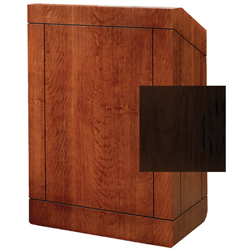 "Da-Lite Providence 25"" Stacking Lectern with Gooseneck Microphone (Mahogany Laminate)"