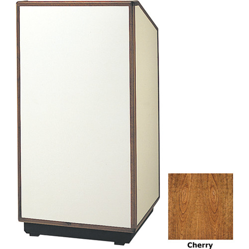 "Da-Lite Cambridge 32"" Floor Lectern with Sound System (Cherry Veneer)"