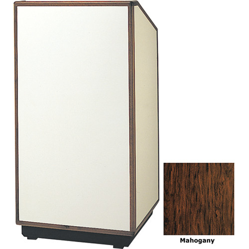 "Da-Lite Cambridge 25"" Tabletop Lectern with Sound System (Mahogany Laminate)"