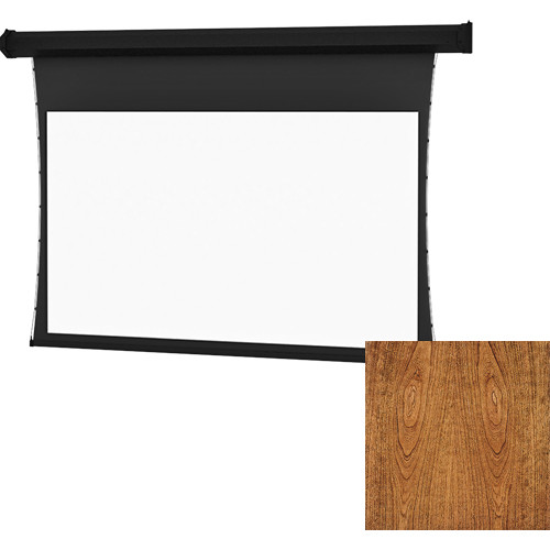 "Da-Lite Tensioned Large Cosmopolitan Electrol 92 x 164"" 16:9 Screen with High Contrast Da-Mat Surface (Cherry Veneer)"
