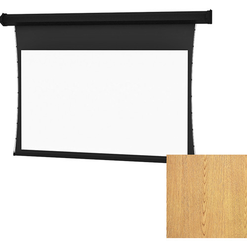 "Da-Lite Tensioned Large Cosmopolitan Electrol 92 x 164"" 16:9 Screen with High Contrast Da-Mat Surface (Light Oak Veneer)"