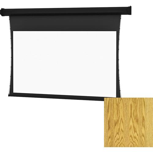 "Da-Lite Tensioned Large Cosmopolitan Electrol 92 x 164"" 16:9 Screen with High Contrast Da-Mat Surface (Medium Oak Veneer)"