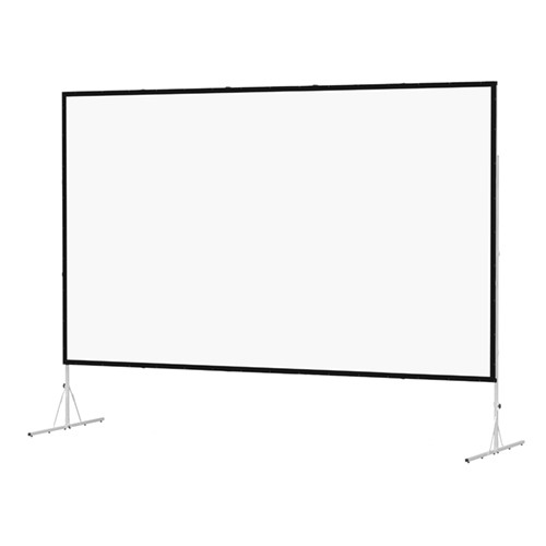 Da-Lite Fast-Fold Deluxe Front Projection Screen System with Additional Rear Projection Screen Kit (9 x 12')