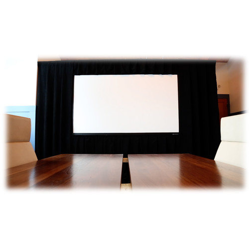"Da-Lite Standard Deluxe Ultra Drapery Presentation Kit for Fast-Fold NXT Screen (65 x 116"", Black)"