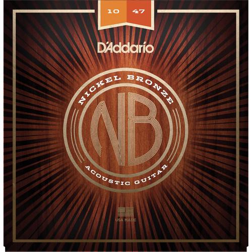 D'Addario NB1047 Extra Light Nickel Bronze Acoustic Guitar Strings (6-String Set, 10-47)