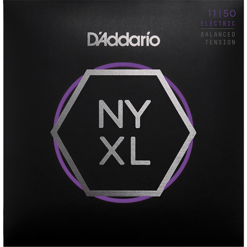D'Addario NYXL1150BT Medium Balanced Tension Electric Guitar Strings (6-String Set, 11-50)