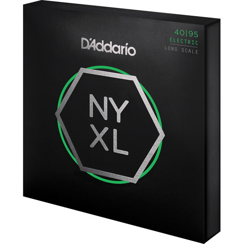 D'Addario NYXL4095 Super Light Electric Bass Strings (4-String Set, Long Scale, 40-95)