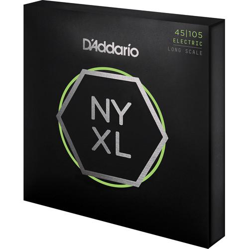 D'Addario NYXL45105 Light Top/Medium Bottom Electric Bass Strings (4-String Set, Long Scale, 45-105)