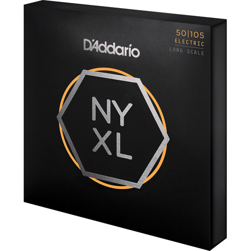 D'Addario NYXL50105 Medium Electric Bass Strings (4-String Set, Long Scale, 50-105)