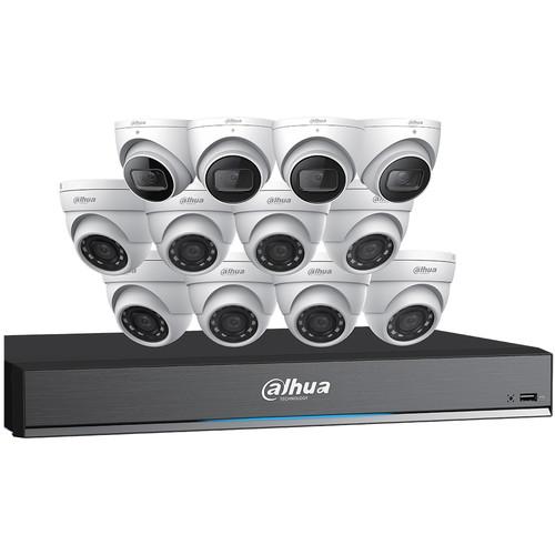 Dahua Technology Pentabrid 16-Channel 8MP HD-CVI DVR with 4TB HDD, 4 8MP Turret Cameras & 8 5MP Turret Cameras