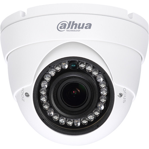 Dahua Technology Lite Series HAC-HDW1200RN-VF 2MP 1080p Weather-Proof IR HDCVI Dome Camera with 2.7-12mm Varifocal Lens (NTSC)