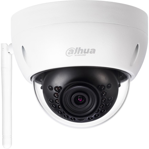 Dahua Technology Lite Series 1.3MP Outdoor Wi-Fi MiniDome Camera with 3.6mm Fixed Lens & Night Vision