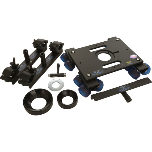 Dana Dolly Portable Dolly System with Universal Track Ends, 100 & 150mm Bowl Adapters
