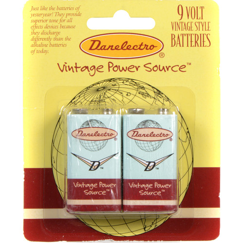 DANELECTRO 9V Batteries for Effect Pedals (2-Pack)
