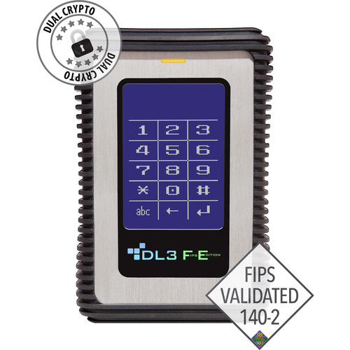 Data Locker 1TB DL3 FE Encrypted External USB 3.1 Gen 1 Hard Drive (FIPS Edition)